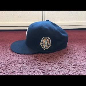 NY Yankees Mariano Rivera Patch Fitted Hat  7 1/8